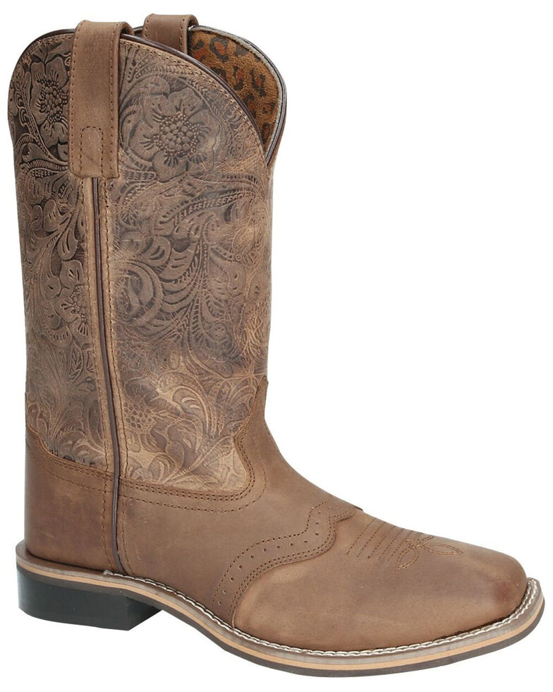Smoky Mountain Women's Brandy Western Boots - Square Toe, Brown, hi-res