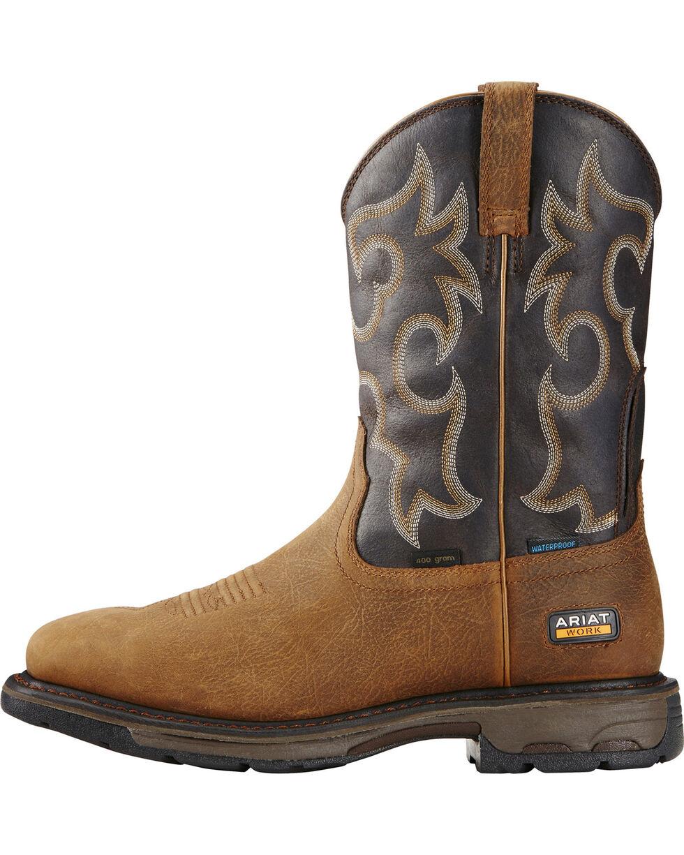 Ariat Workhog H2O 400g Western Work Boots, Brown, hi-res