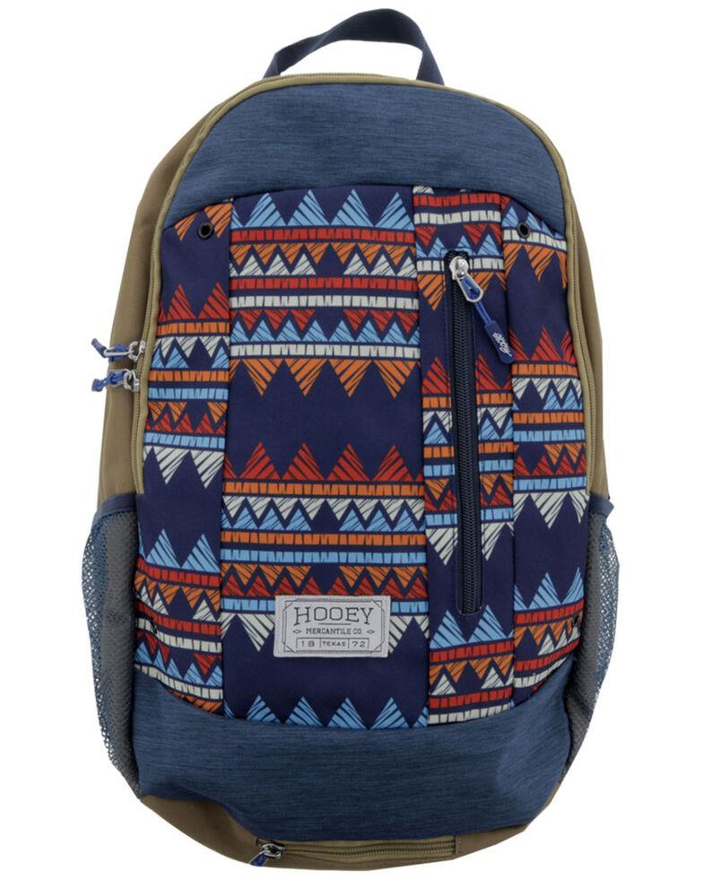 HOOey Rockstar Blue Zig-Zag Backpack, Red, hi-res