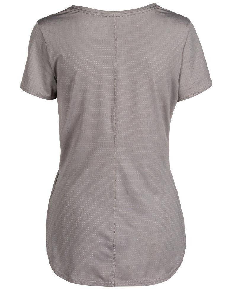 5.11 RECON Women's Taylor Short Sleeve Work Top, Medium Grey, hi-res