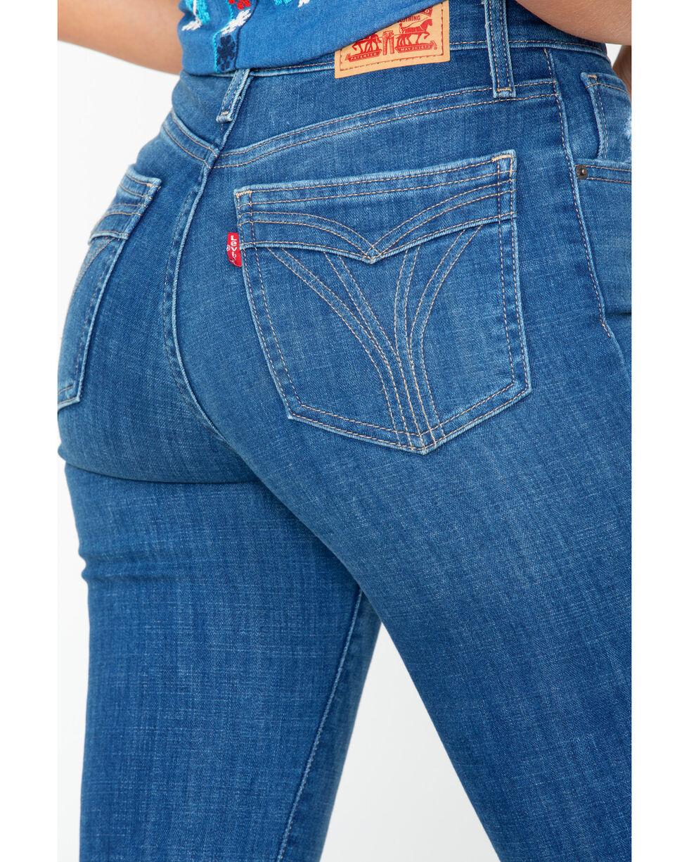 Levi's Women's 721 High Rise Ankle Skinny Jeans , Indigo, hi-res