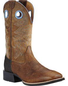 Ariat Men's Heritage Performance Boots, Brown, hi-res