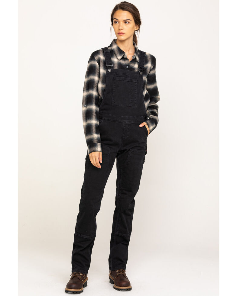Dovetail Workwear Women's Cosy Freshley Denim Overalls , Black, hi-res
