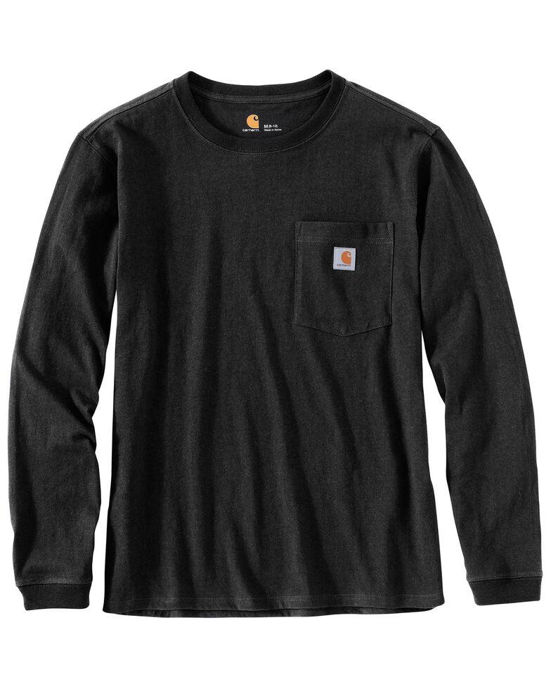 Carhartt Women's Workwear Pocket Long-Sleeve T-Shirt, Black, hi-res
