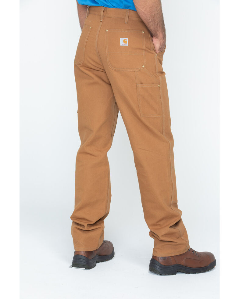 Carhartt Double Duck Dungaree Fit Work Pants - Big & Tall, Brown, hi-res