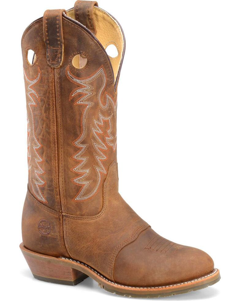 """Double-H Women's Buckaroo 12"""" Western Boots, Brown, hi-res"""