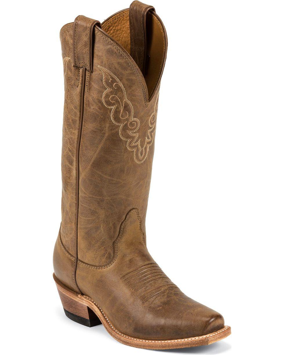 "Nocona Women's 13"" Cozy Halfmoon Square Toe Western Boots, Tan, hi-res"