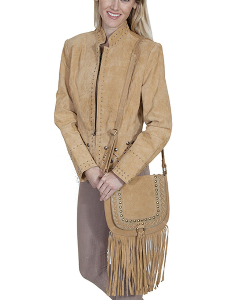 Scully Women's Fringe Flag Bag, Tan, hi-res
