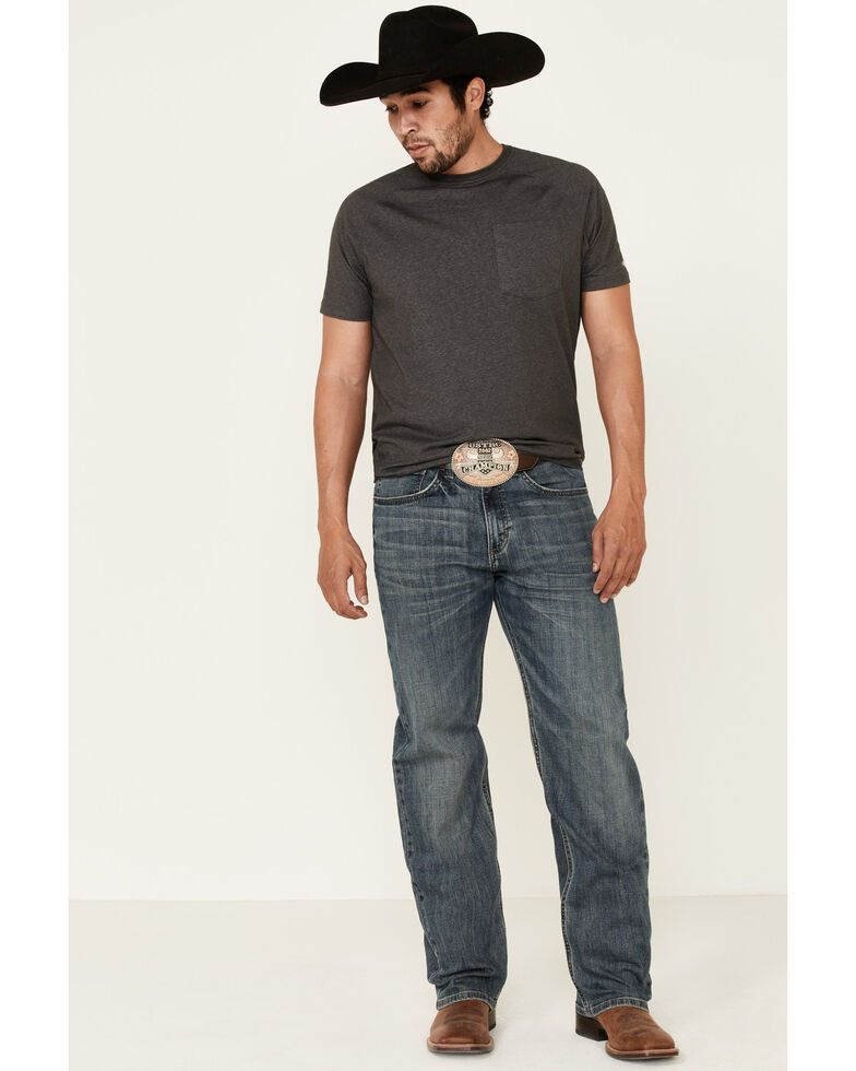 Wrangler 20X Men's Silo Dark Extreme Relaxed Straight Jeans - Long, Blue, hi-res