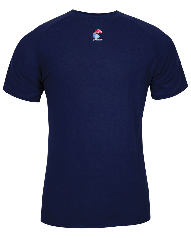 National Safety Apparel Men's 2X-3X Navy FR Control 2.0 Long Sleeve Work Shirt - Tall , Navy, hi-res