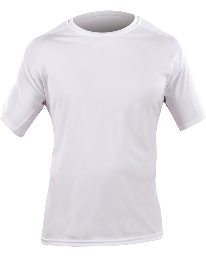 5.11 Tactical Men's Loose Short Sleeve Crew Shirt, White, hi-res