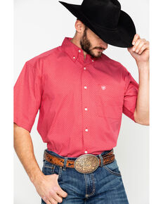 09378ed9ca0 Ariat Men s Gatewood Stretch Geo Print Short Sleeve Western Shirt