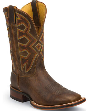 Nocona Men's Let's Rodeo Square Toe Western Boots, Tan, hi-res