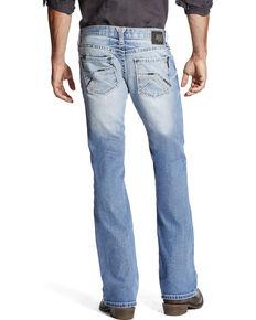 Ariat Men's Faded Stitched Boot Cut Jeans, Indigo, hi-res