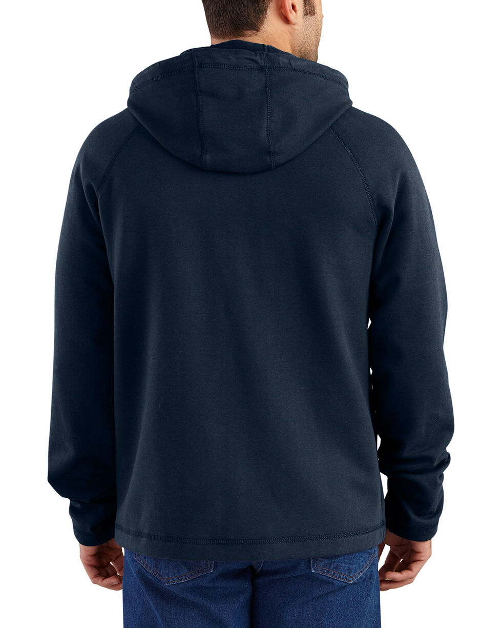 Carhartt Men's Flame Resistant Force Hooded Fleece Jacket - Big & Tall, Navy, hi-res