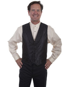 Rangewear by Scully Men's Black Shawl Collar Vest  , Black, hi-res