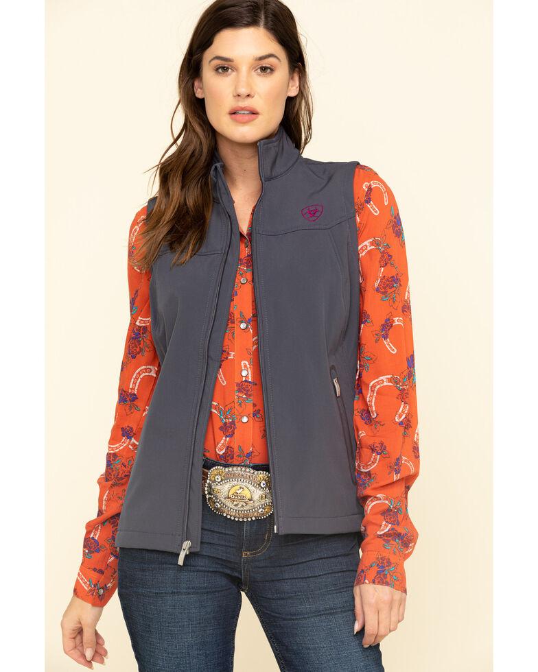 Ariat Women's Marine Grey New Team Softshell Vest, Grey, hi-res