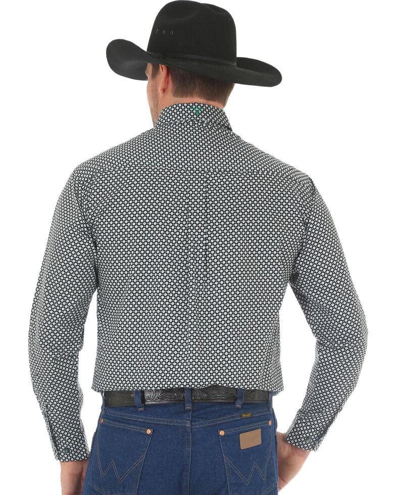 Wrangler 20X Men's Multi Geo Print Advanced Comfort Long Sleeve Western Shirt, Green, hi-res