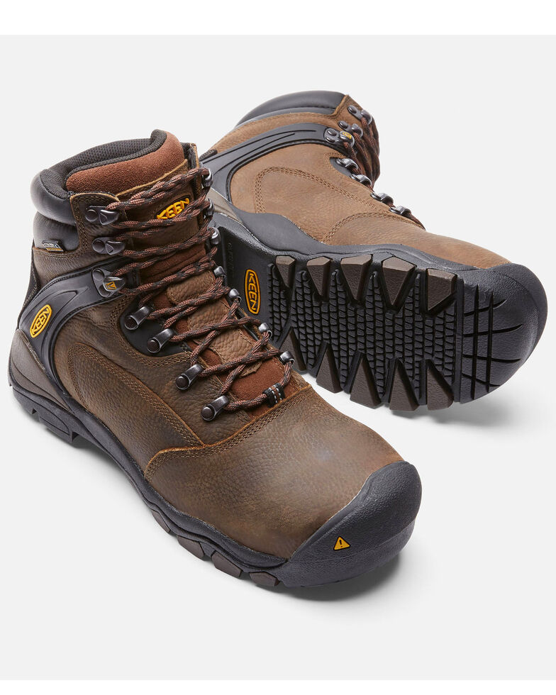 Keen Men's Louisville Waterproof Work Boots - Steel Toe, Brown, hi-res