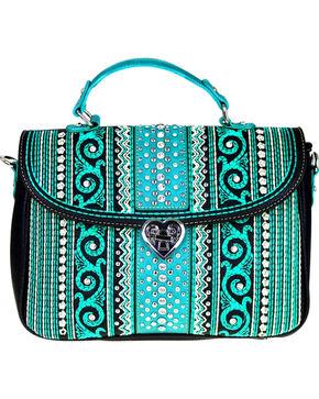 Montana West Women's Bling Bling Collection Satchel/Crossbody Bag, Black, hi-res