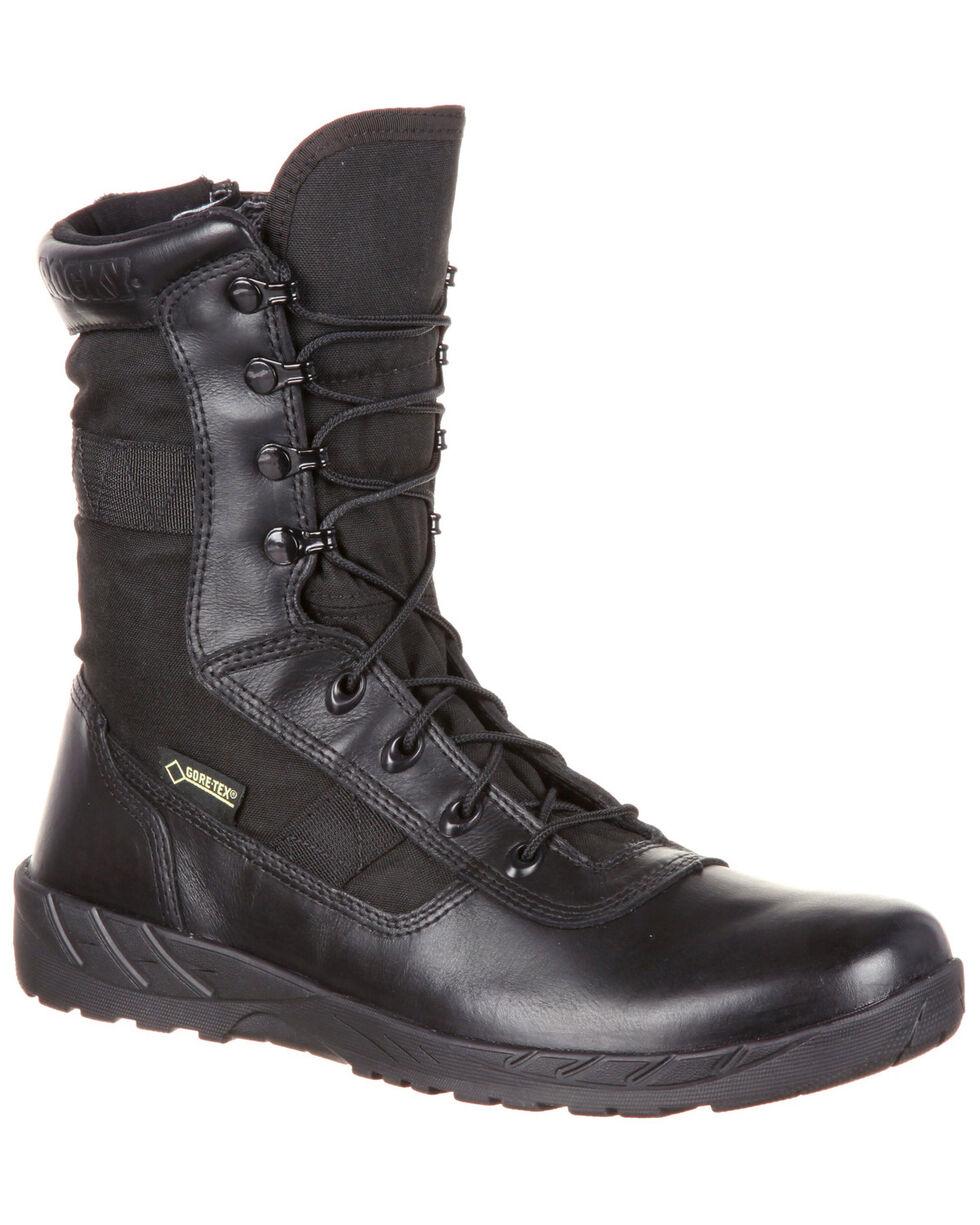 Rocky Men's C7 Zipper Waterproof Duty Boots - Round Toe, Black, hi-res