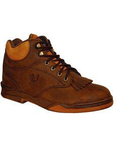 Roper Footwear Women's Horseshoe Kiltie Boots, Brown, hi-res