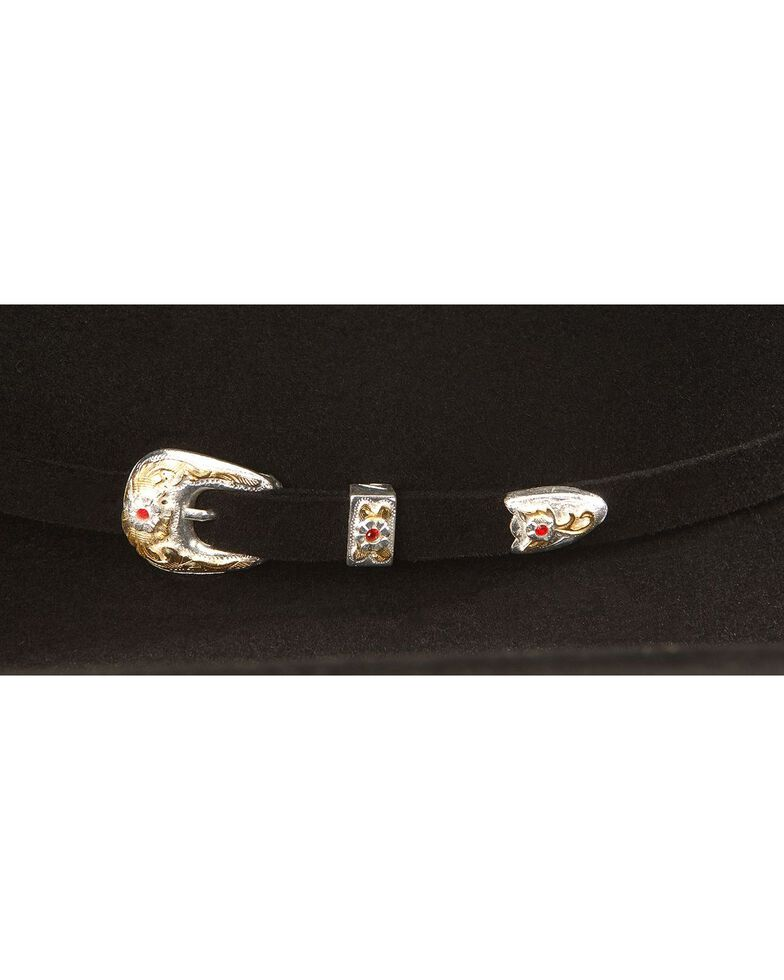 Larry Mahan 6X Real Black Fur Felt Western Hat, Black, hi-res