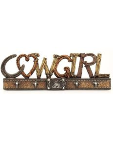M&F Western Moments Cowgirl Decor, Brown, hi-res