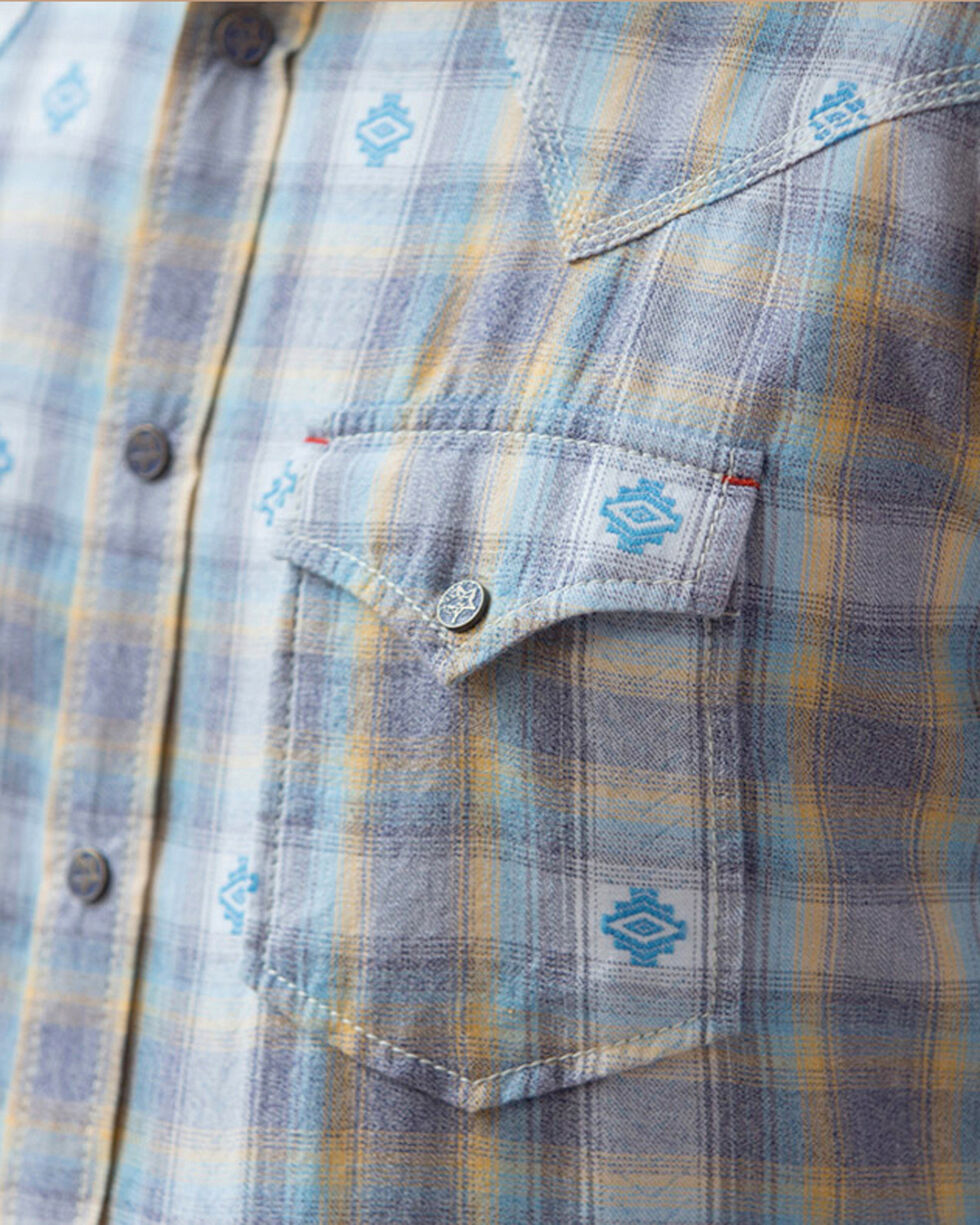 Ryan Michael Men's Blue Ombre Dobby Plaid Shirt - Big & Tall, Blue, hi-res