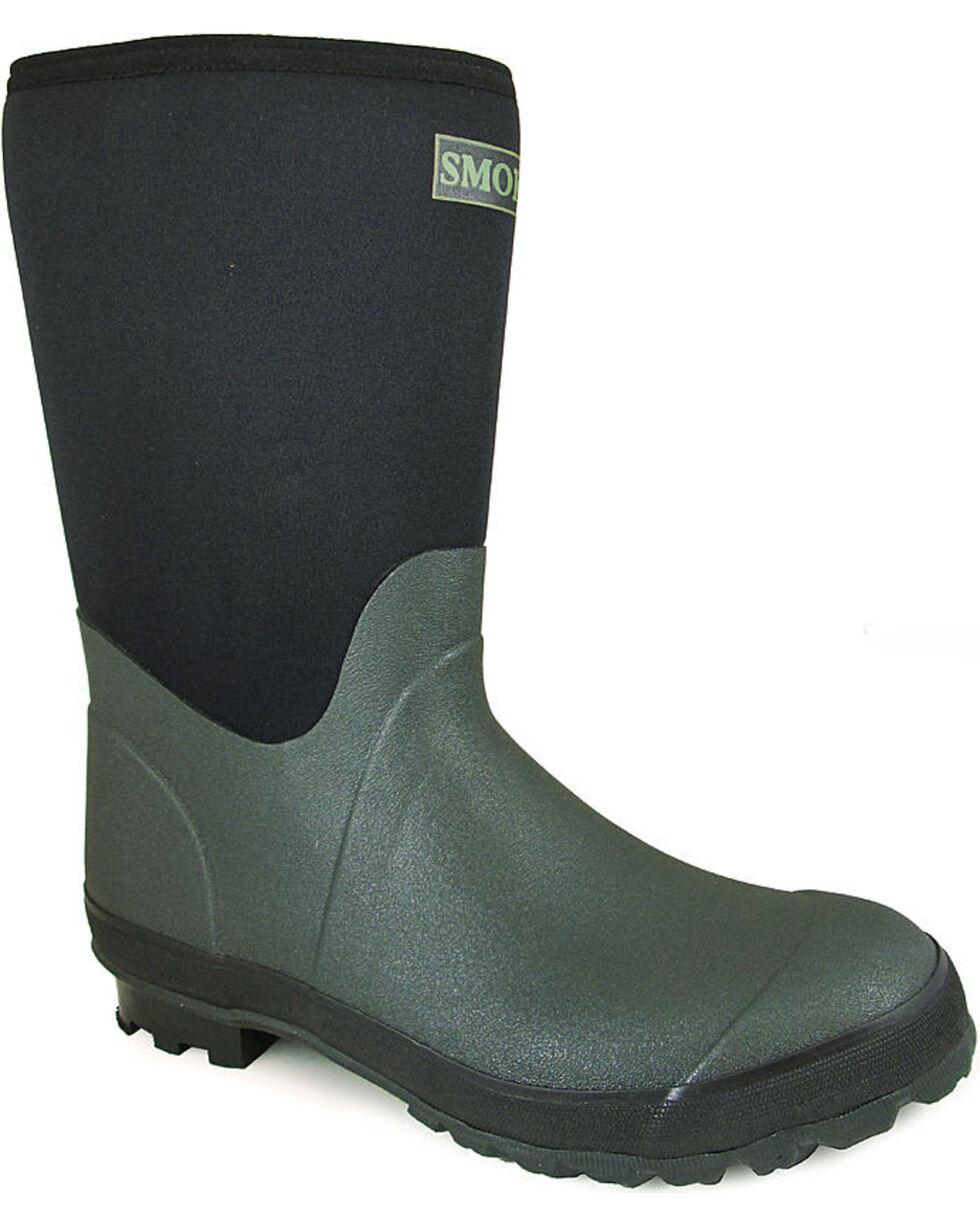 Smoky Mountain Men's Dark Amphibian Boots - Round Toe , Green, hi-res