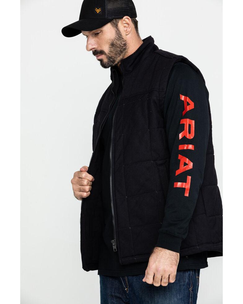 Ariat Men's Black FR Crius Insulated Work Vest - Big, Black, hi-res