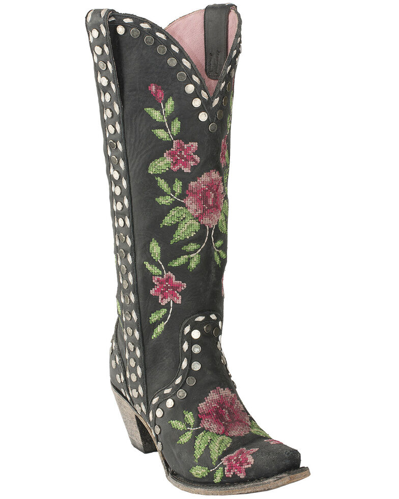 Junk Gypsy by Lane Lane Women's Wild Stitch Western Boots - Snip Toe, Black, hi-res