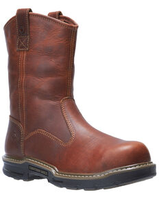 Wolverine Men's Raider II Western Work Boots - Soft Toe, Distressed Brown, hi-res