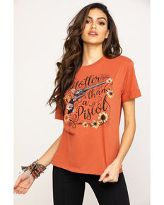 White Crow Women's Hotter Than A Pistol Graphic Tee, Rust Copper, hi-res