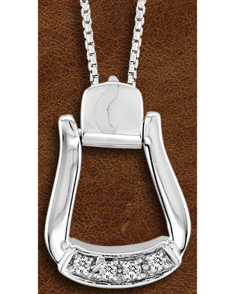 Kelly Herd Sterling Silver CZ-Based Oxbow Necklace *DISCONTINUED*, Silver, hi-res