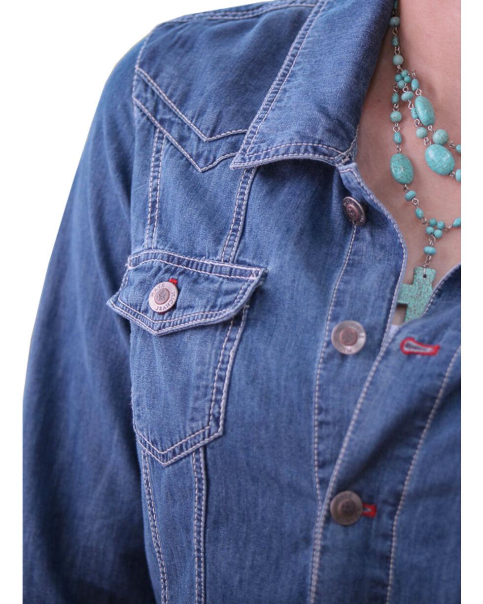 Ryan Michael Women's Denim Jean Jacket, Denim, hi-res