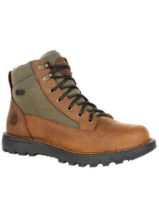 Rocky Men's Legacy 32 Waterproof Outdoor Boots - Soft Toe, Green/brown, hi-res