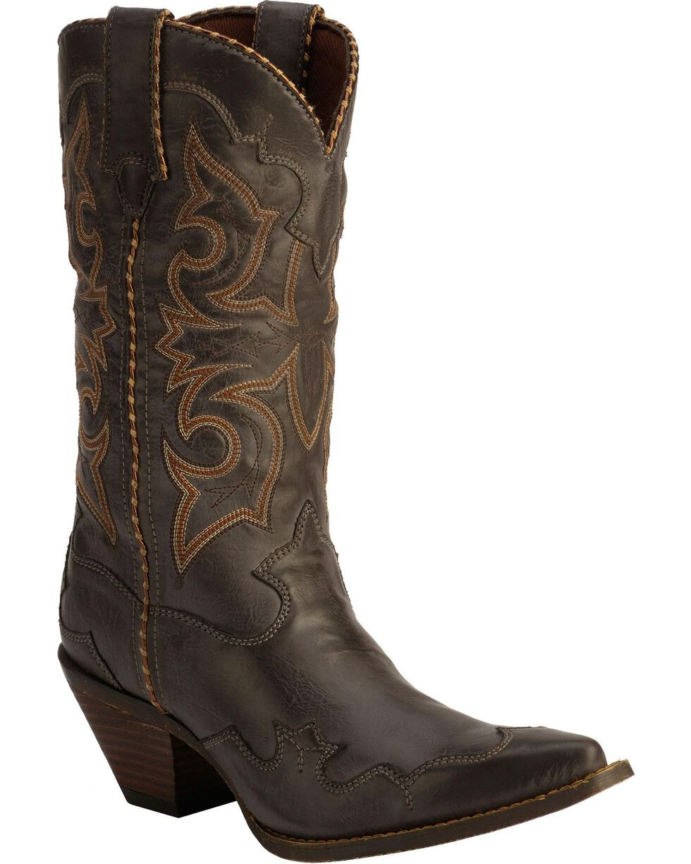 Durango Women's Rock-n-Scroll Western Boots, Gun Smoke, hi-res