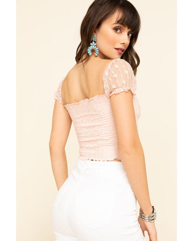 ILLA ILLA Women's Lace Off The Shoulder Top , Pink, hi-res