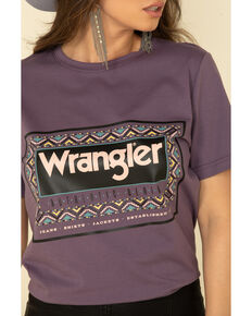 Wrangler Retro Women's Serape Logo Tee, Purple, hi-res