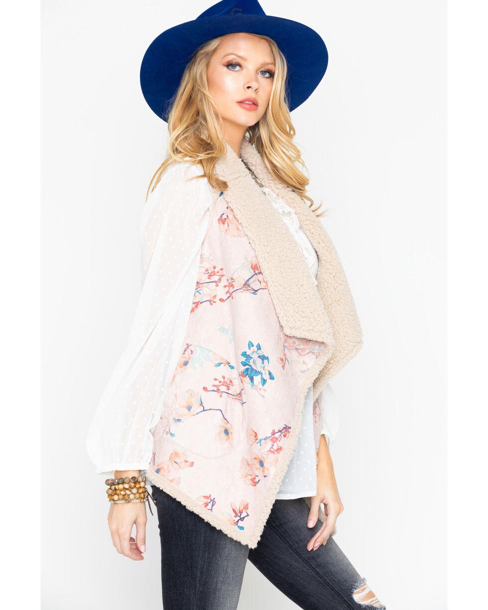 BB Dakota Women's Reversible Faux Vest, Ivory, hi-res
