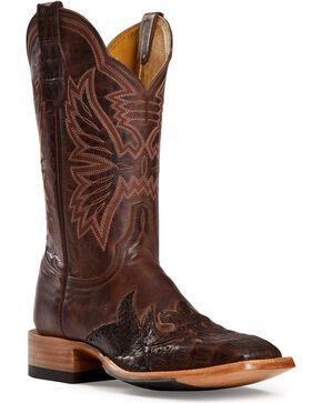 Cinch Men's Caiman Wingtip Exotic Boots, Antique Brown, hi-res