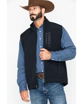 Cinch Men's Black Solid Windproof Zip-Up Vest , Black, hi-res