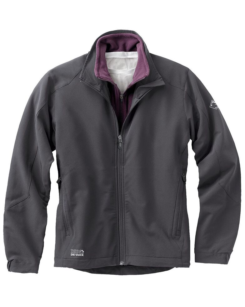 Dri Duck Women's Precision Softshell Jacket, Dark Grey, hi-res