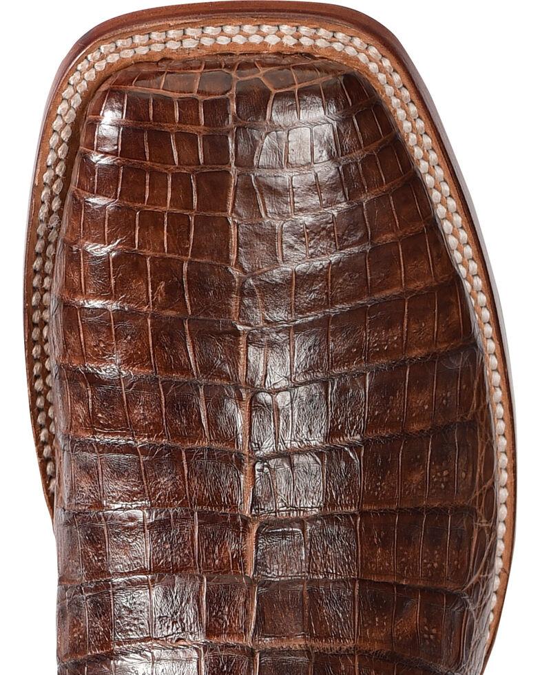 El Dorado Men's Handmade Caiman Belly Brass Stockman Boots - Square Toe, Bronze, hi-res