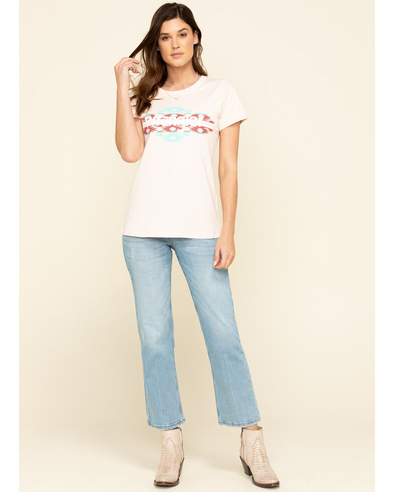 Wrangler Women's Southwest Logo Graphic Tee, Light Pink, hi-res