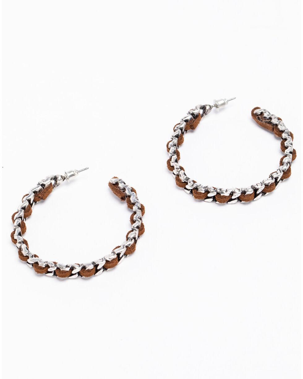 Shyanne Women's 2-Tone Roped Hoop Earrings, Silver, hi-res