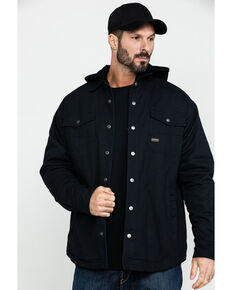 Ariat Men's Black Rebar Foundry Insulated Hooded Work Shirt Jacket , Black, hi-res