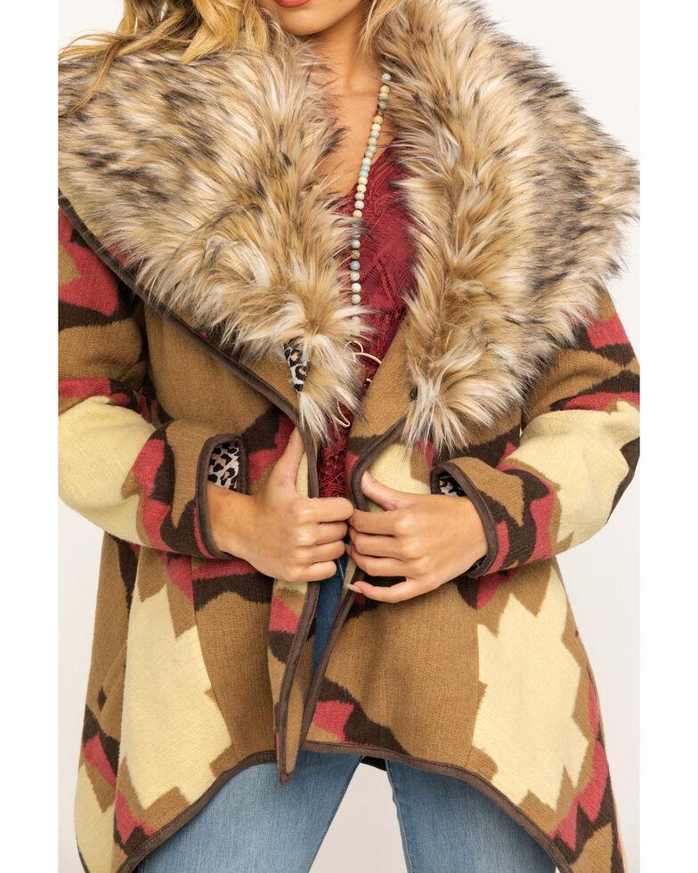 Tasha Polizzi Women's Faux Fur Elwood Jacket, Brown, hi-res