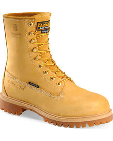 "Carolina Men's Basic 8"" Work Boots, Wheat, hi-res"